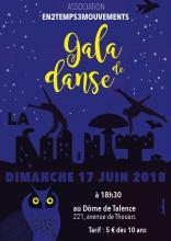 Affiche Spectacle de danse - La Nuit