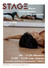 Affiche Stage Danse contemporaine Magali Lanriot